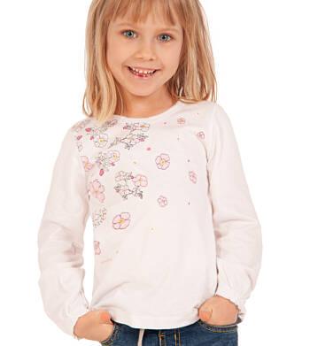 Endo - Bluzka z długim rękawem dla dziewczynki, kwiatowy nadruk, biała, 3-8 lat D92G011_1 6
