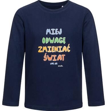 T-shirt z długim rękawem dla chłopca, ciemnogranatowy, 2-8 lat C04G155_1