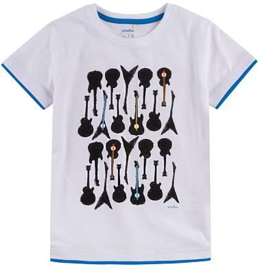 Endo - T-shirt z kontrastowym wykończeniem dla chłopca 4-8 lat C71G106_1