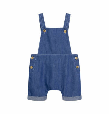 Endo - Jeansowe ogrodniczki dla dziecka do 2 lat N03K025_1 29