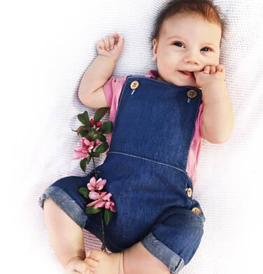 Endo - Jeansowe ogrodniczki dla dziecka do 2 lat N03K025_1