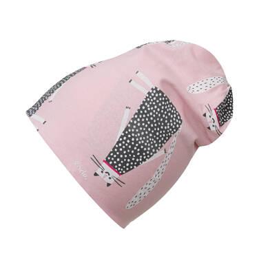 Endo - Czapka wiosenna dla dziecka do 2 lat, deseń w koty, różowa N03R016_1 21