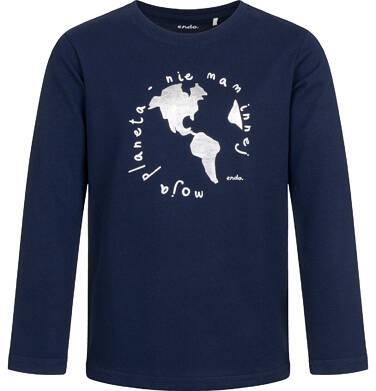 Endo - T-shirt z długim rękawem dla chłopca, ciemnogranatowy, 9-13 lat C04G157_1 1
