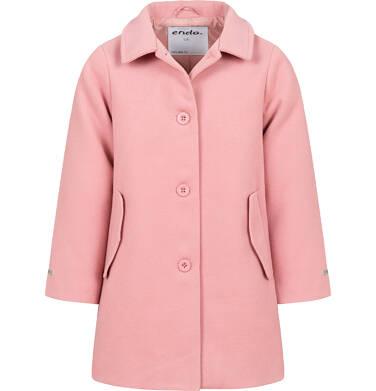 Endo - Płaszcz przejściowy dla dziewczynki, z kołnierzykiem, różowy, 9-13 lat D05A004_1,6