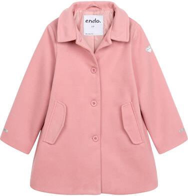 Endo - Płaszcz przejściowy dla dziewczynki, z kołnierzykiem, różowy, 9-13 lat D05A004_1 142