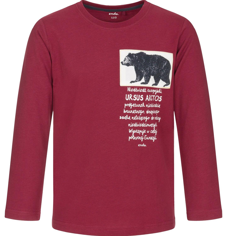 Endo - T-shirt z długim rękawem dla chłopca 9-13 lat C92G545_2