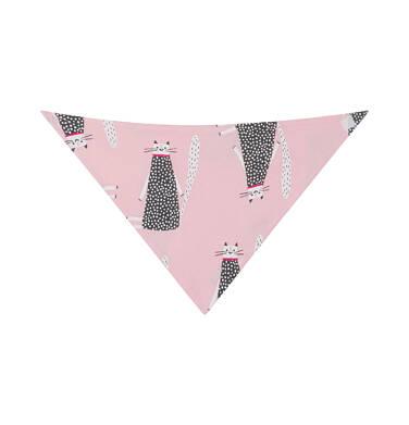 Endo - Chustka wiosenna dla dziecka, deseń w koty, różowa N03R017_1,2