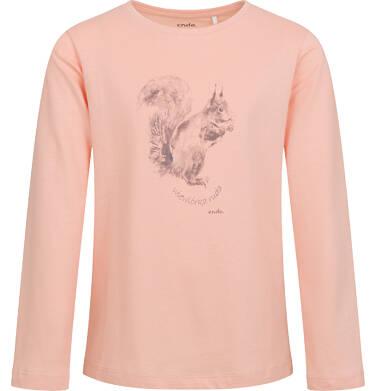 Endo - Bluzka dla dziewczynki z długim rękawem, z wiewiórką, różowa, 9-13 lat D04G005_1 21