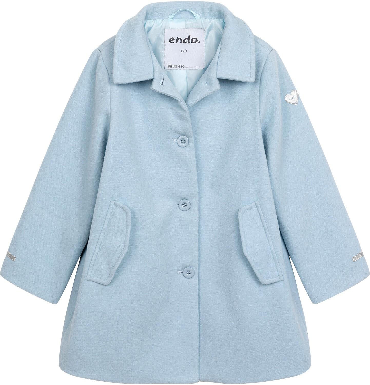 Endo - Płaszcz przejściowy dla dziewczynki, z kołnierzykiem, jasnoniebieski, 9-13 lat D05A004_2