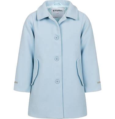 Endo - Płaszcz przejściowy dla dziewczynki, z kołnierzykiem, jasnoniebieski, 9-13 lat D05A004_2,6