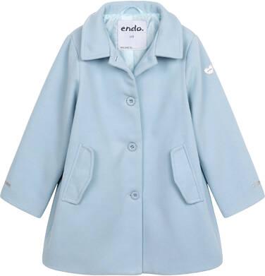 Endo - Płaszcz przejściowy dla dziewczynki, z kołnierzykiem, jasnoniebieski, 9-13 lat D05A004_2 141