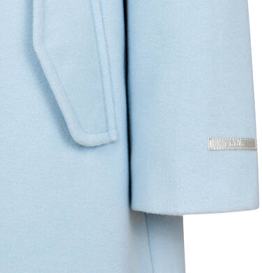 Endo - Płaszcz przejściowy dla dziewczynki, z kołnierzykiem, jasnoniebieski, 9-13 lat D05A004_2,3