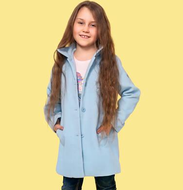 Endo - Płaszcz przejściowy dla dziewczynki, z kołnierzykiem, jasnoniebieski, 9-13 lat D05A004_2,2