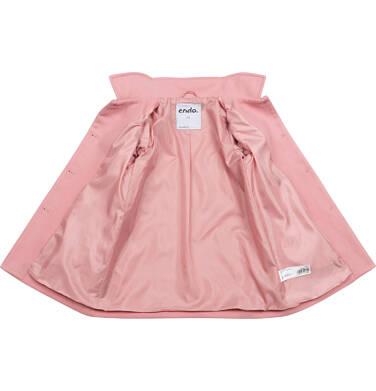 Endo - Płaszcz przejściowy dla dziewczynki, z kołnierzykiem, różowy, 2-8 lat D05A008_1 2