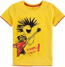 T-shirt z kontrastowym wykończeniem dla chłopca 9-13 lat C71G608_1