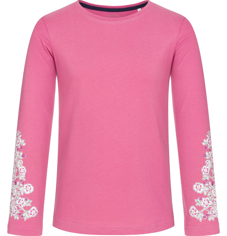 Endo - Bluzka z długim rękawem dla dziewczynki, różowa, 3-8 lat D92G012_1