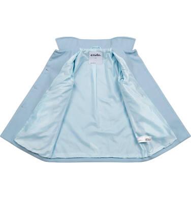Endo - Płaszcz przejściowy dla dziewczynki, z kołnierzykiem, jasnoniebieski, 2-8 lat D05A008_2 1