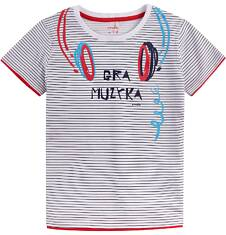 T-shirt z kontrastowym wykończeniem dla chłopca 4-8 lat C71G109_1
