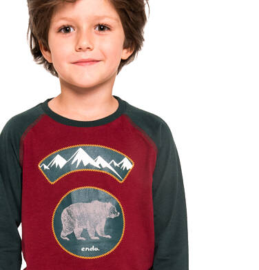 Endo - T-shirt z długim rękawem dla chłopca 3-8 lat C92G050_1