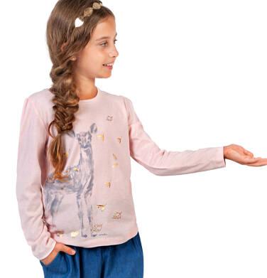 Endo - Bluzka dla dziewczynki z długim rękawem, z sarną, różowa, 9-13 lat D04G032_1 13