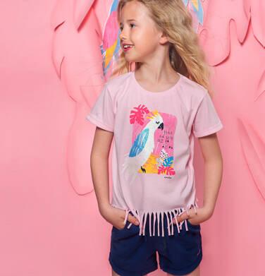 Endo - Krótkie spodenki dla dziewczynki, kieszonki z tyłu i podwinięte nogawki, granatowe, 3-8 lat D06K004_2,2