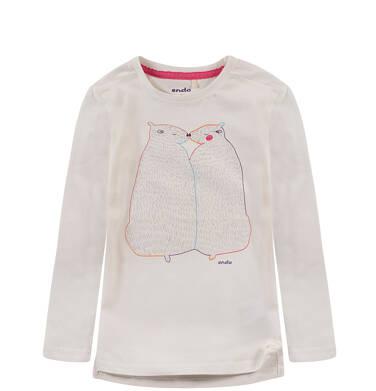 Endo - Bluzka z rozporkami po bokach dla dziewczynki D52G100_1