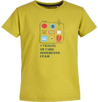 Endo - T-shirt z grafiką przód/tył dla chłopca 9-13 lat C81G557_1