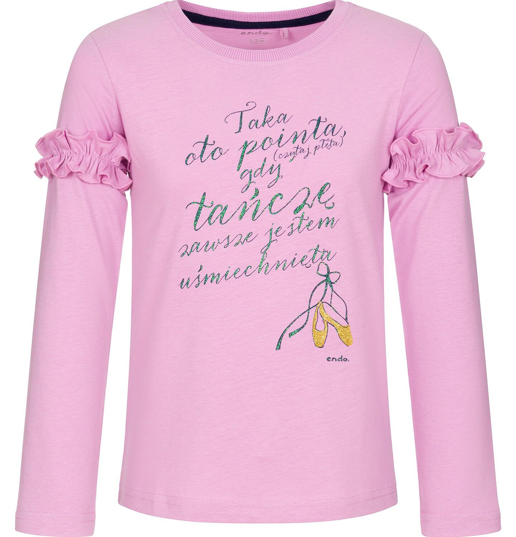 Endo - Bluzka z długim rękawem dla dziewczynki 3-8 lat D92G041_1