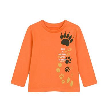 T-shirt z długim rękawem dla dziecka do 2 lat, pomarańczowy N04G009_1