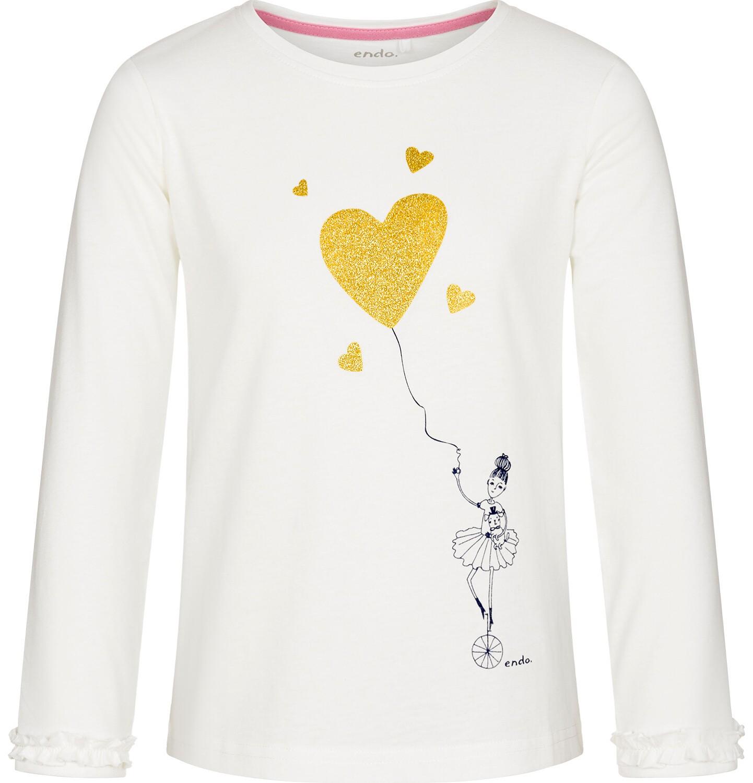 Endo - Bluzka z długim rękawem dla dziewczynki 3-8 lat D92G044_1