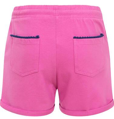 Endo - Krótkie spodenki dla dziewczynki, kieszonki z tyłu i podwinięte nogawki, różowe, 9-13 lat D06K017_3 26
