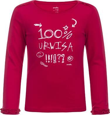"""Endo - """"100% Urwisa"""" T-shirt z długim rękawem dla dziewczynki 3-8 lat D82G106_1"""
