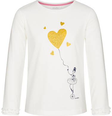Bluzka z długim rękawem dla dziewczynki 9-13 lat D92G544_1