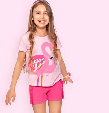 Endo - Krótkie spodenki dla dziewczynki, z falbankami po bokach, różowe, 2-8 lat D06K029_1 10