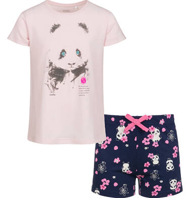 Endo - Piżama z krótkim rękawem dla dziewczynki, deseń w pandy, 9-13 lat D03V508_1 142