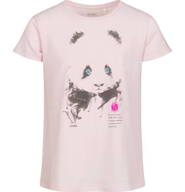 Endo - Piżama z krótkim rękawem dla dziewczynki, deseń w pandy, 9-13 lat D03V508_1,3