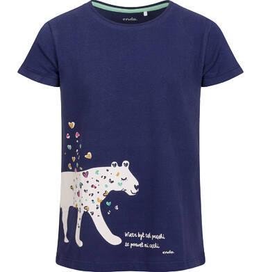 Endo - Piżama z krótkim rękawem dla dziewczynki, deseń w serca, 2-8 lat D03V009_1,3