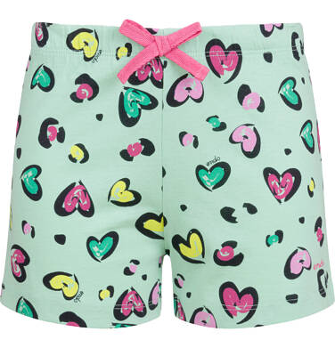 Endo - Piżama z krótkim rękawem dla dziewczynki, deseń w serca, 2-8 lat D03V009_1,2