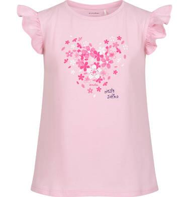 Endo - Piżama z krótkim rękawem dla dziewczynki, z sercem w kwiatki, różowa, 3-8 lat D06V013_1 8