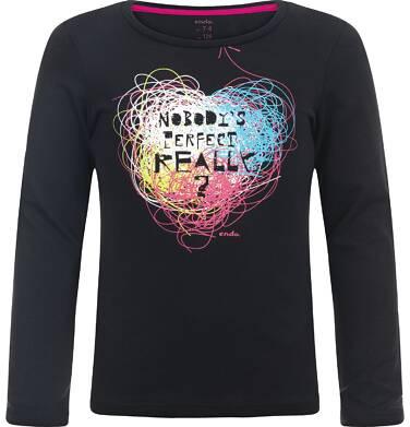"""Endo - """"Nobody's perfect, really?"""" T-shirt z długim rękawem dla dziewczynki 3-8 lat D82G112_1"""