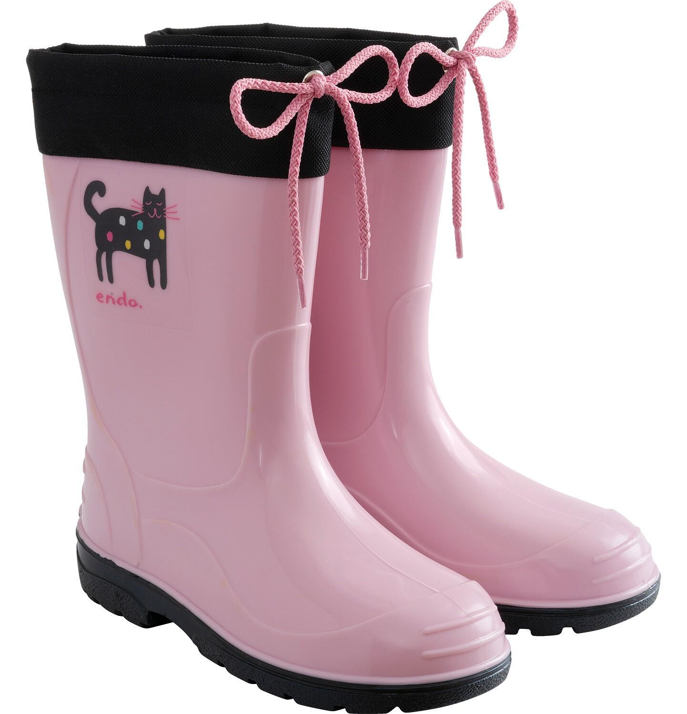 Endo - Kalosze dla dziecka, różowo-czarne, 9-13 lat D04O507_1