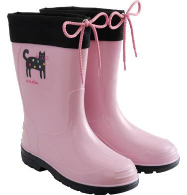 Endo - Kalosze dla dziecka, różowo-czarne, 9-13 lat D04O507_1 1
