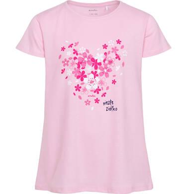 Endo - Piżama z krótkim rękawem dla dziewczynki, z sercem w kwiatki, różowa, 9-13 lat D06V014_1 2