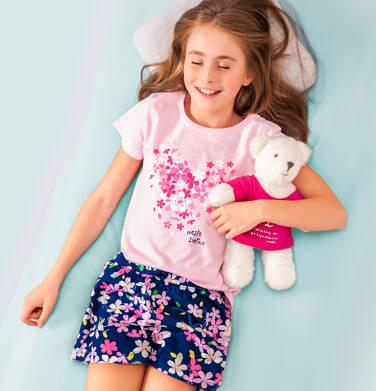 Endo - Piżama z krótkim rękawem dla dziewczynki, z sercem w kwiatki, różowa, 9-13 lat D06V014_1 7