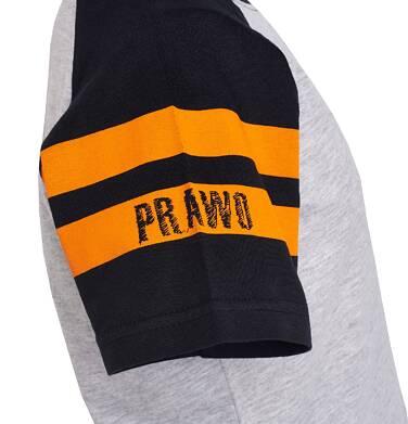 Endo - T-shirt z krótkim reglanowym rękawem dla chłopca 9-13 lat C81G576_1