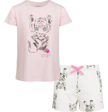 Endo - Piżama z krótkim rękawem dla dziewczynki, deseń w tygrysy, 2-8 lat D03V010_1 1