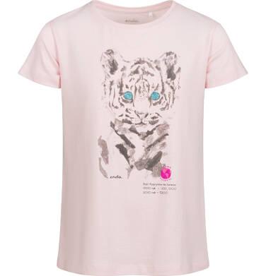 Endo - Piżama z krótkim rękawem dla dziewczynki, deseń w tygrysy, 2-8 lat D03V010_1 2