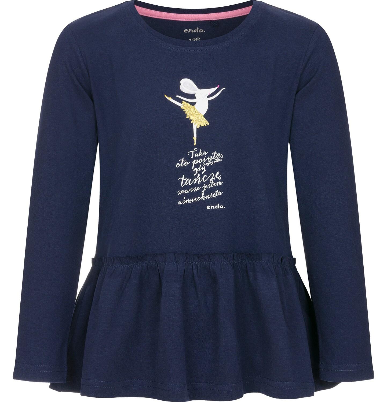 Endo - Bluzka z długim rękawem dla dziewczynki 9-13 lat D92G549_1