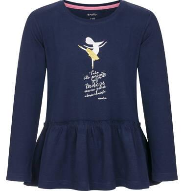 Endo - Bluzka z długim rękawem dla dziewczynki 9-13 lat D92G549_1,1