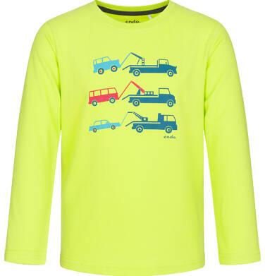Endo - T-shirt z długim rękawem dla chłopca, z samochodami, jaskrawozielony, 3-8 lat C92G066_1